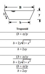 Solved Compute The Hydraulic Radius For A Trapezoidal Hydraulics Revision Channel Geometry Flashcards Cram