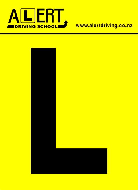 Picture L by Free Learners L Plate Alert Driving School Auckland