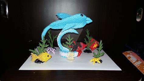 3d Origami Dolphin - my 3d origami dolphin 1 by sunitapatnaik on deviantart