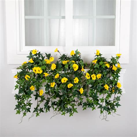 artificial window box plants artificial morning flowers for window boxes hooks