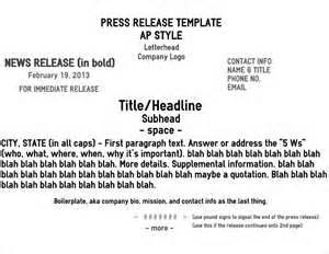 Ap Press Release Template by Five Pro Tips For A Rockin News Release Brave Nib