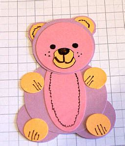 How To Make Paper Teddy - papercraft