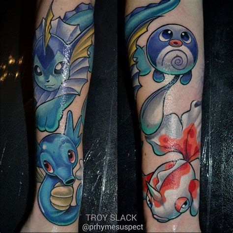 pokemon tattoo sleeve amazing on arm new school