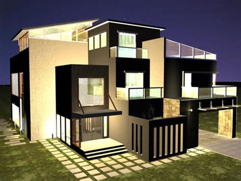 Beautiful Home The Best Film In 3d Plans Banglows Modern House Plans 3d Max