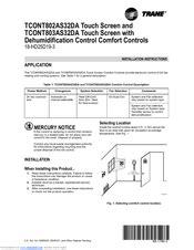 Trane Tcont803as32da Manuals