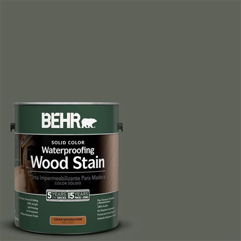 behr 1 gal sc 131 pewter solid color waterproofing wood stain 21301 the home depot