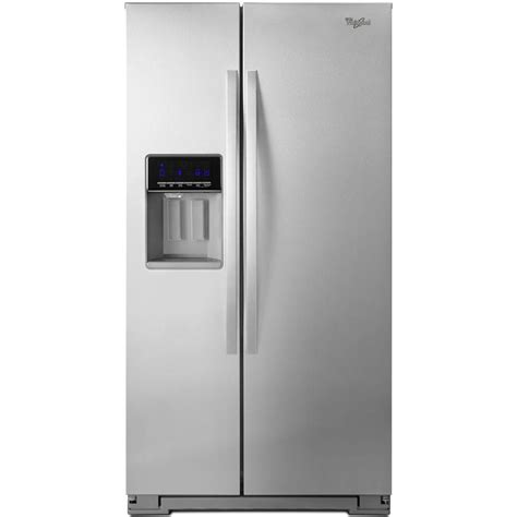 refrigerator cabinet side whirlpool 20 6 cu ft side by side refrigerator in