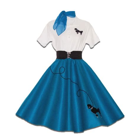 6 pc 50 s poodle skirt costume teal ebay