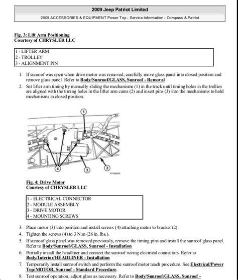motor auto repair manual 2009 jeep patriot security system manual reparacion jeep compass patriot limited 2007 2009 sunroof