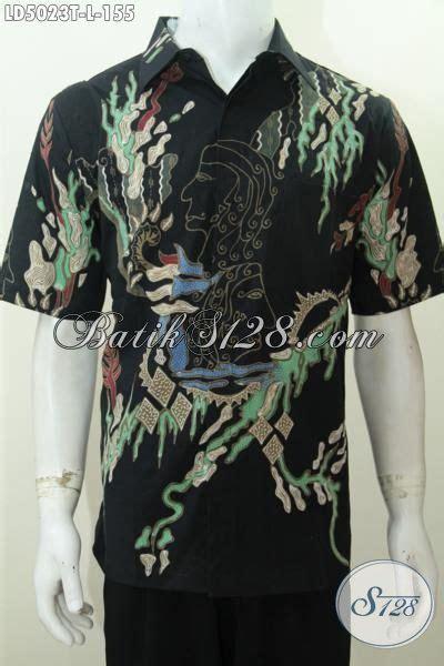 Kemeja Batik Pria Batik Tulis Lengan Pendek Warna Soft Baru Code B L batik kemeja warna dasar hitam elegan berpadu motif trendy kesukaan pria muda baju batik lengan