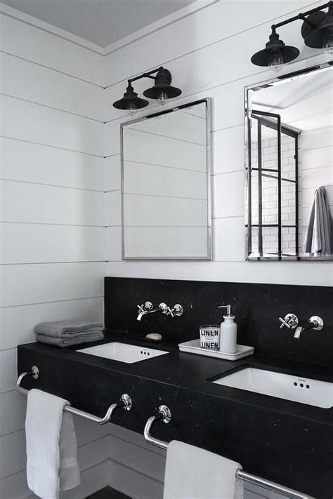 black and white bathroom vanity 32 trendy and chic industrial bathroom vanity ideas digsdigs