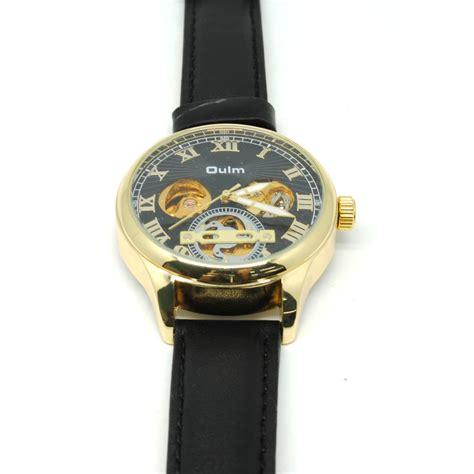 Oulm Jam Tangan Keren Mekanikal Hp3621 oulm jam tangan mekanikal hp3621 black gold