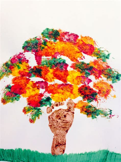 infant fall quot fall tree quot footprint tree for infants my at home