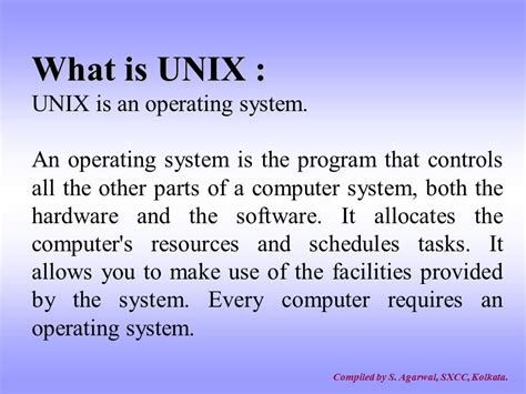 The Unix Operating System unix an introduction compiled by ppt