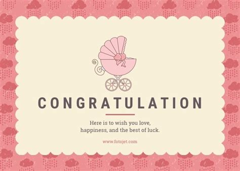 Newborn Baby Card Template by Congratulation Card Template Resume Builder
