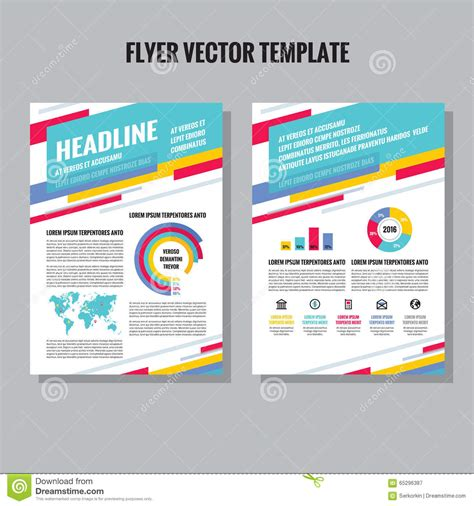 infographic brochure template flyer vector template with infographic icons and world