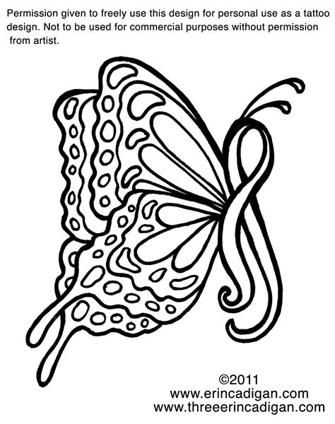 awareness ribbon tattoo designs free breast cancer ribbon coloring pages