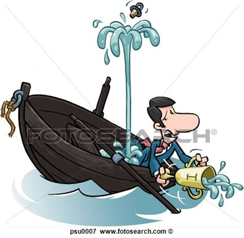 boat cartoon sinking sink boat clipart clipground