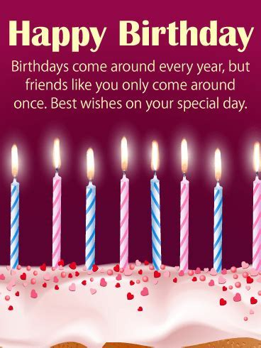 Best Happy Birthday Wishes Card for Friends: Birthdays