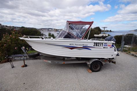 boats quintrex quintrex 475 freedom sport power boats boat sales tasmania