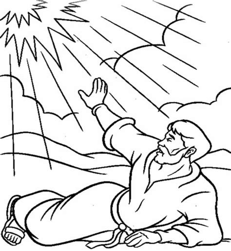 Coloring Page Acts 9 saul paul on the road to damascus acts 9 bible