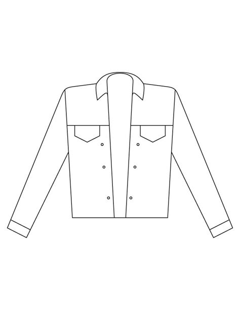printable coloring page of a jacket jacket coloring pages