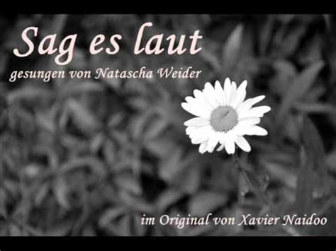 Hochzeit Xavier Naidoo Sag Es Laut by Sag Es Laut