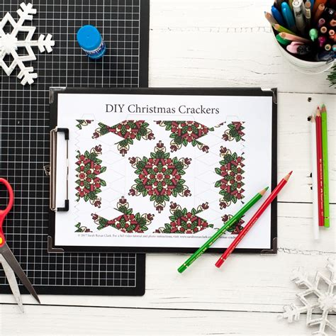 Diy Christmas Crackers 8 Pack Sarah Renae Clark Coloring Book Artist And Designer Make Your Own Crackers Template