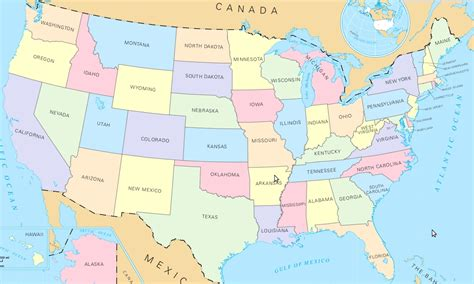 united states picture map 11x17 map of united states