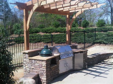 Outdoor Kitchen Arbor Pergolas And Arbors Outdoor Kitchens
