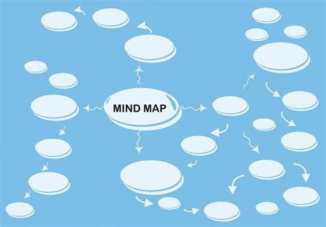 mind map template download free vector art stock