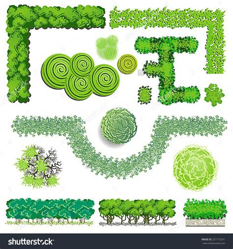 garden layout vector bush tops clipart clipground
