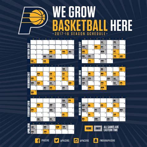 Calendario Knicks Indiana Pacers Schedule