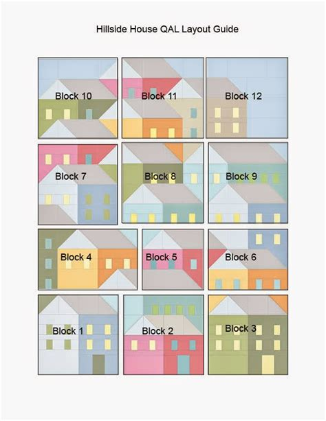 house pattern blocks pretty little quilts hillside houses qal laying out your
