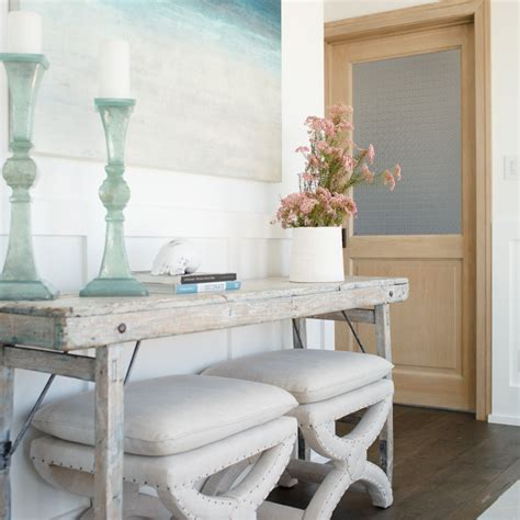Entryway Table With Stools Underneath by Portfolio Becki Owens