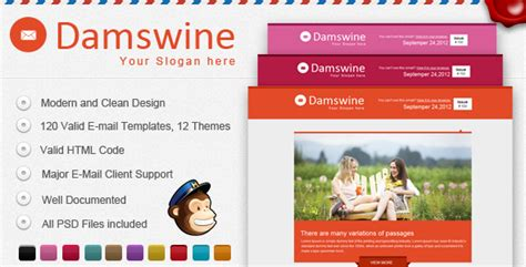 damswine e mail template themeforest