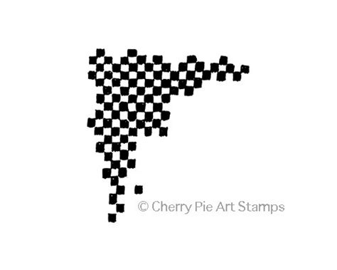 cherry pie rubber sts checkered corner journal cling rubber cherrypie