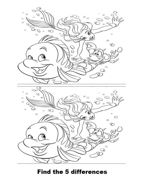 Between The Pages Black spot the difference coloring pages and print for free