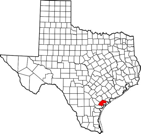 map of refugio texas file map of texas highlighting refugio county svg wikimedia commons