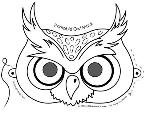 printable owl face mask owl mask coloring page маски кукли за пръсти
