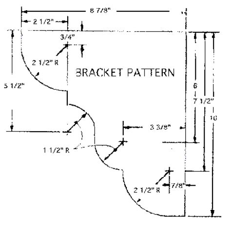 Wood Shelf Bracket Pattern by Diy Wood Shelf Bracket Design Plans Free