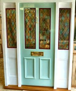 Stained Glass Front Doors A Stained Glass Front Door With Frame And Sidelights Stained Glass Doors Company