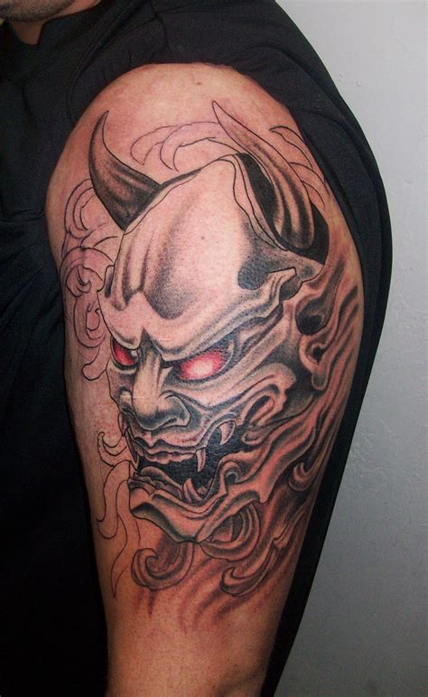oni mask tattoo designs piercedfish asian tattoos 2