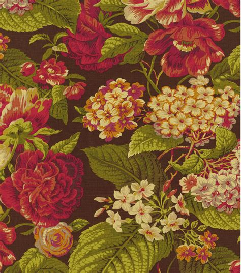 floral home decor fabric home decor print fabric waverly floral flourish cordial