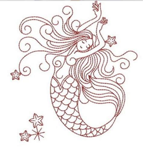 free embroidery templates mermaid embroidery vintage mermaid sea creatures