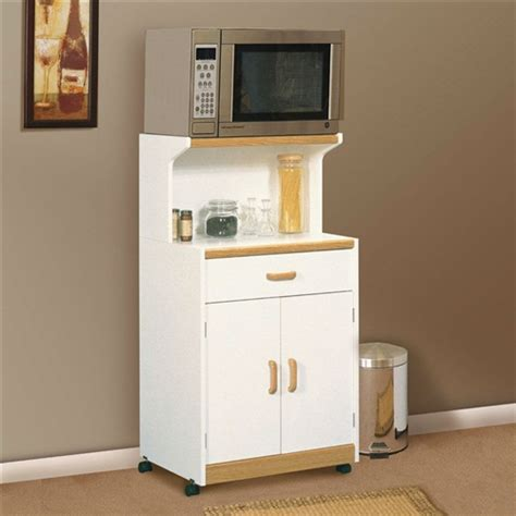 microwave cart with drawer white creativeworks home decor kitchen carts