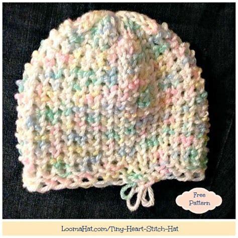 heart pattern loom loom knit knit beanie and free pattern on pinterest