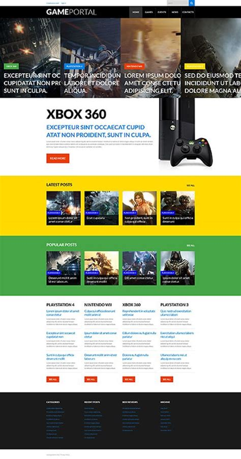 wordpress themes video games 30 best game portal themes to attract a lot of wow users