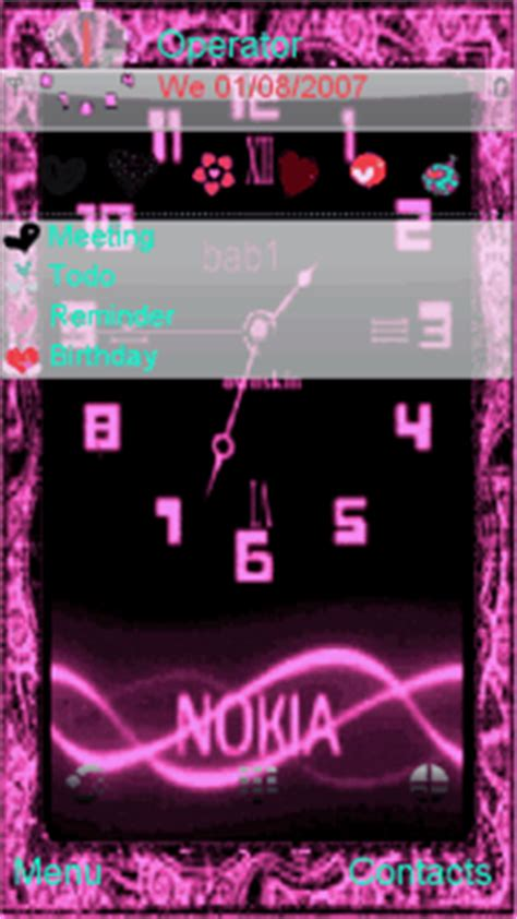 nokia 5233 themes dark red ownskin clock animated mobile themes for nokia 5233