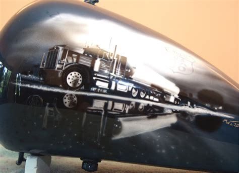 Route 66 Home Decor by Route 66 Gas Tank Harley Davidson Just Airbrush